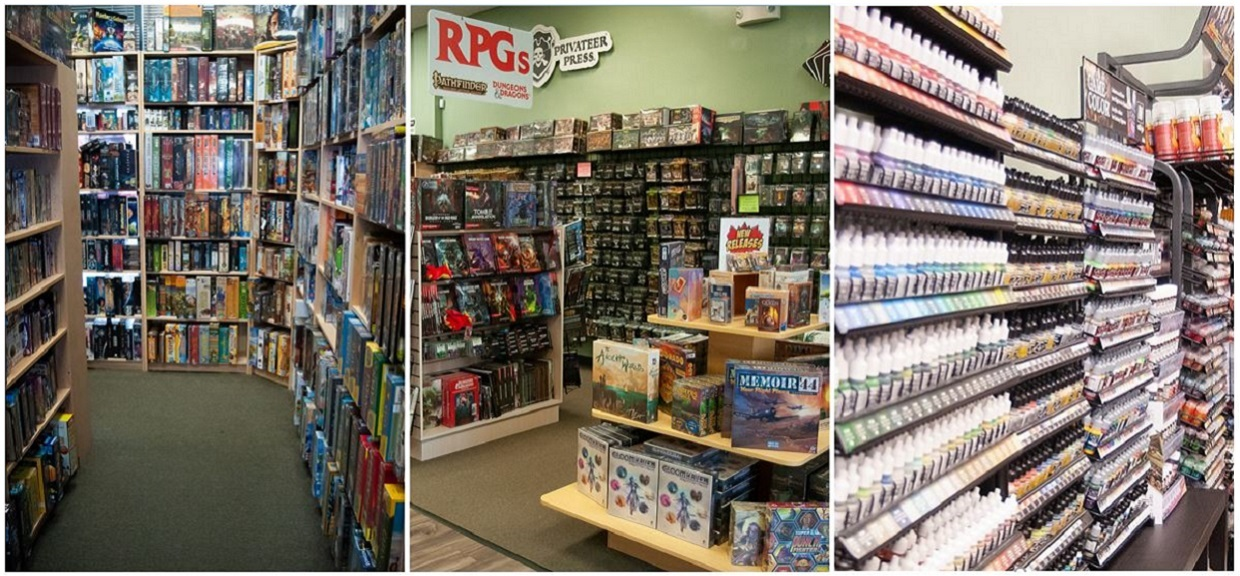 Huzzah Hobbies carries thousands of products, board games, miniatures, paints, terrain, collectible card games and much more!