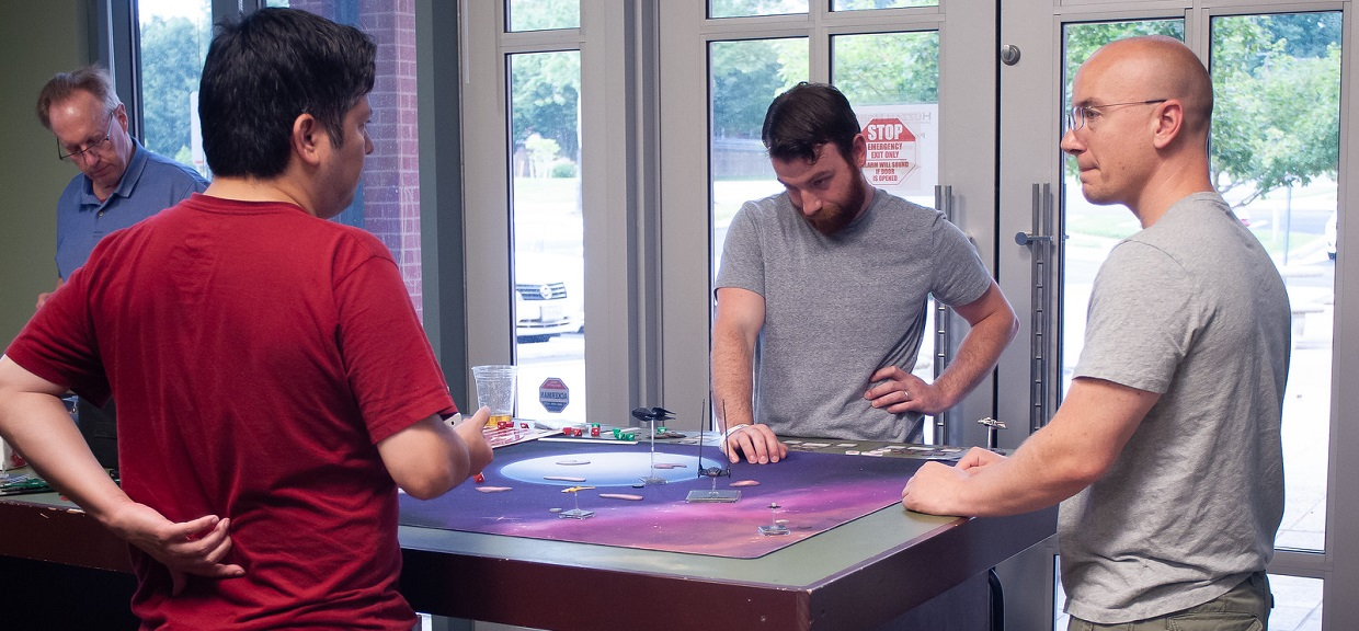 Deploy your miniatures for battle in our expanded gaming space now with more tables than ever before!